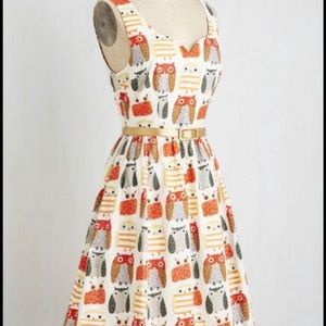 Bra and Dot ModCloth Quirk Things Up Owl Dress 2X